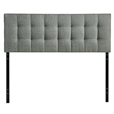 Modway Lily Upholstered Tufted Fabric Headboard Queen Size In Gray