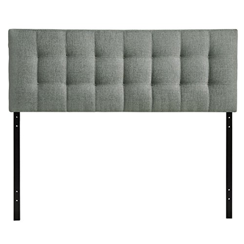 Modway Lily Tufted Linen Fabric Upholstered Queen Headboard...