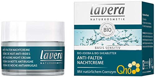 Lavera Nachtcreme Basis sensitiv Anti-Falten mit Coenzym Q10 3er Pack (3 x 50ml)