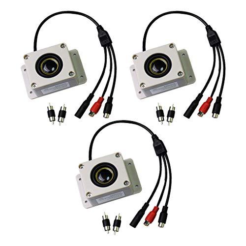 Shiwaki 3X Altavoz Impermeable con Micrófono con Entrada/Salida de Audio Y Puerto de Entrada de CC para Monitor
