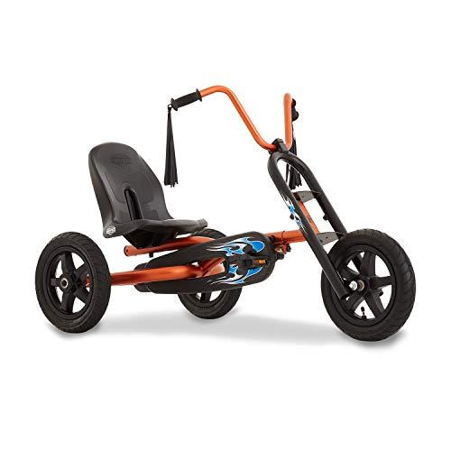 BERG Pedal-Gokart, Für Kinder von 3 bis 8 Jahren, Bis 50 kg, Choppy, Metallic