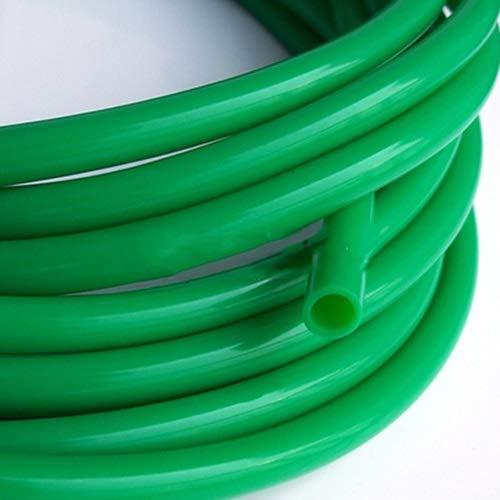 CROSYO 1pc 1 Metro 12x16m M Tubo De Silicona De Grado Alimenticio De Alta Y Baja Temperatura Resistencia Insípido No Tóxico Manguera Transparente Tubería (Color : Verde)