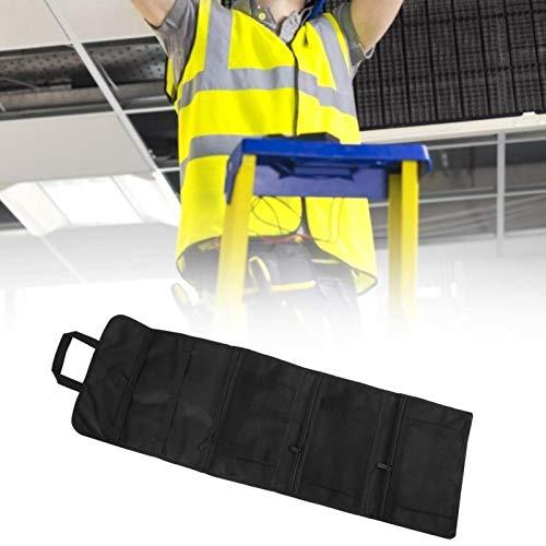 Jeanoko Kit de reparación liviano Bolsa de Herramientas Bolsa de Almacenamiento de Herramientas Negra Piezas de Accesorios de Hardware de Textura Fuerte Bolsillos múltiples portátiles para Guardar