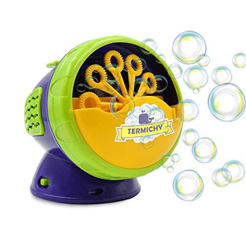 Termichy Máquina automática de burbujas con alto rendimiento,ventilador con batería para uso en interiores y exteriores Púrpura
