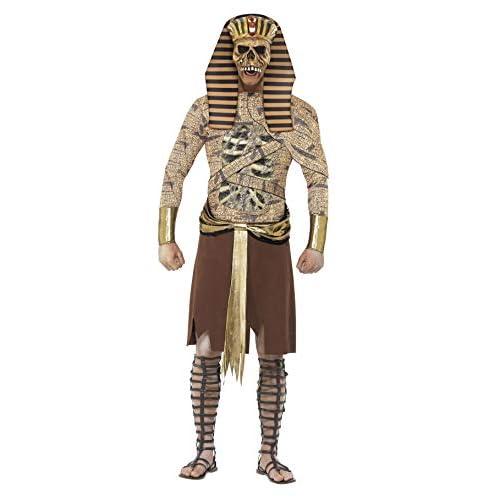Smiffy's Costume Zombie Faraone, Dorato, comprende Corpetto, Bracciali e Copricapo, , Oro (Gold), L