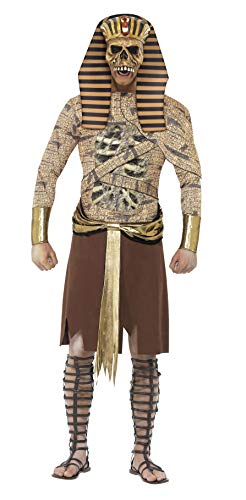 Smiffy's-40097M Halloween Disfraz de faran Zombi, Dorado, con Tabardo, brazaletes y Adorno para la Cabeza, Color Oro, M-Tamao 38'-40' (40097M)