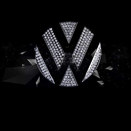 Dekoratives diamant des autolenkrads für käfer abzeichenabdeckung lenkrad logo aufkleber auto innen kristall dekoration,Thenewbeetlefrontlogo