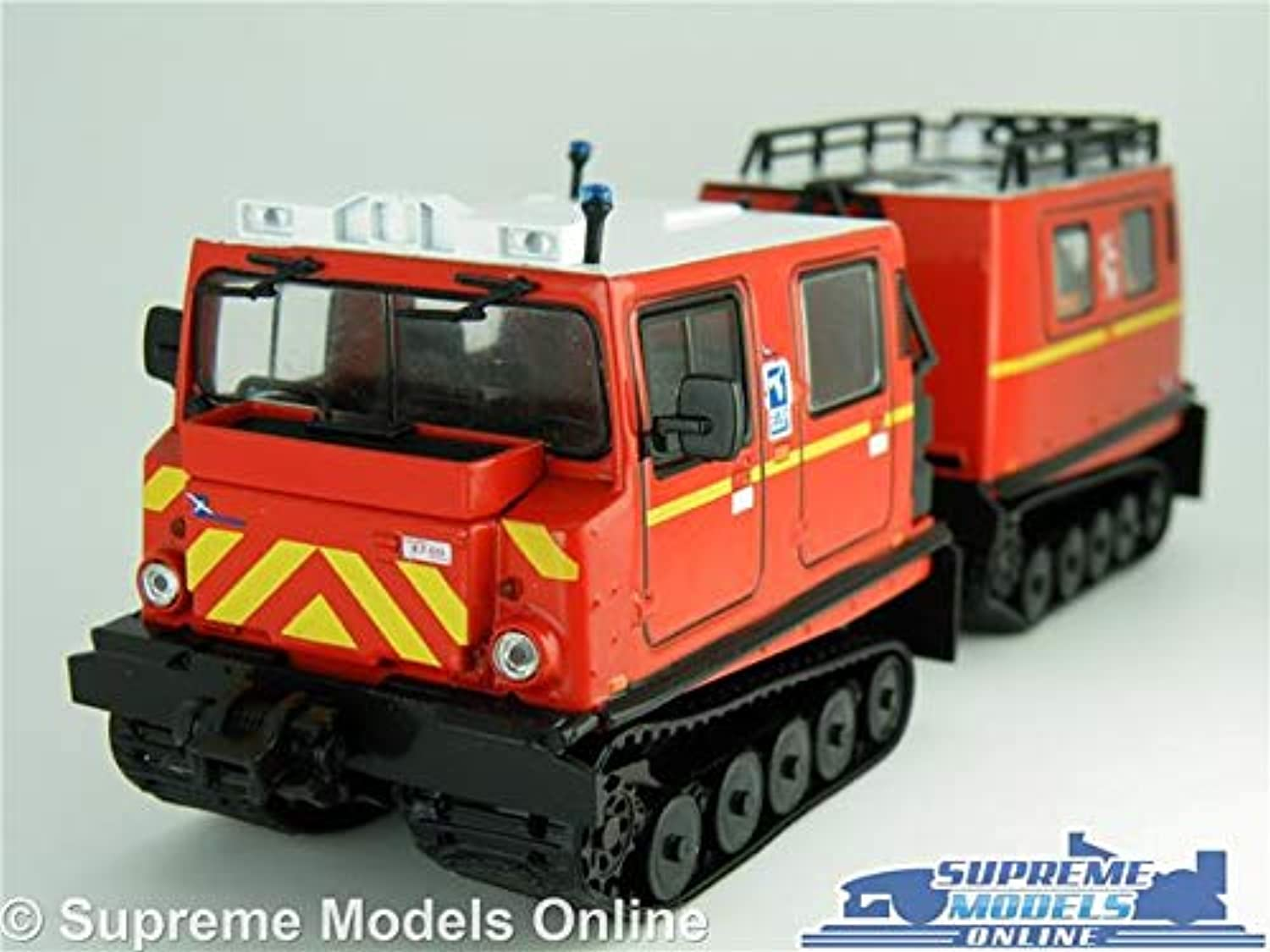 HAGGLUNDS BV206 270 FIRE ENGINE MODEL TRUCK 1 43 SCALE IXO SNOW MOBILE K8
