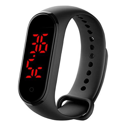 Qimaoo Smartwatch pulsera de temperatura con visualización de 24 horas, medición de la temperatura corporal y alerta de alta temperatura