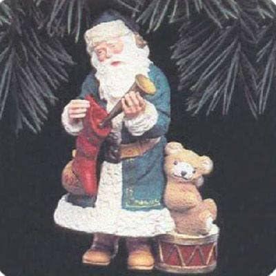 Hand-Sewn Embroidered Cloth Hallmark Keepsake Ornament 1984 Santa Retired