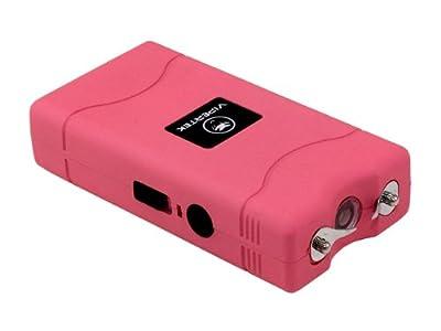 VIPERTEK VTS-880-30 Billion Mini Stun Gun - Rechargeable with LED Flashlight, Pink