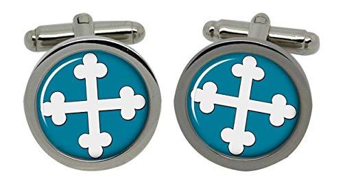 Croix Chrétienne (botonny)-Chromé-Coffret cadeau Boutons de manchette
