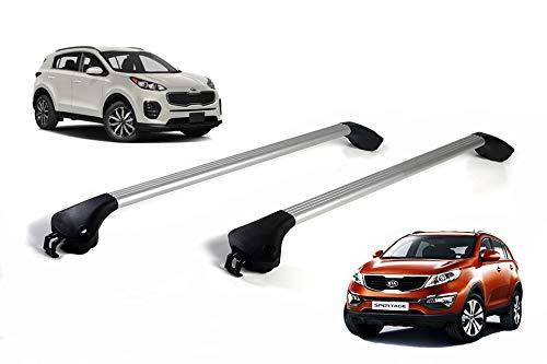 autoSHOP Barre PORTATUTTO per Auto Portapacchi RELING Integrato (Alluminio) 2013 -2020 100kg