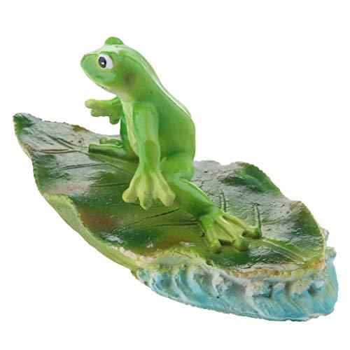 D DOLITY Frosch Schwimmfigur für Garten, Teich, fishpond, schwimmende Dekoration des Brunnenwassers - B# Recht Frosch
