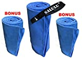 SALULU 3 Size/Pack Microfiber Travel Quick Dry Towel Lightweight Towels for Sports Camping Hiking Beach Swimming Gym Yoga