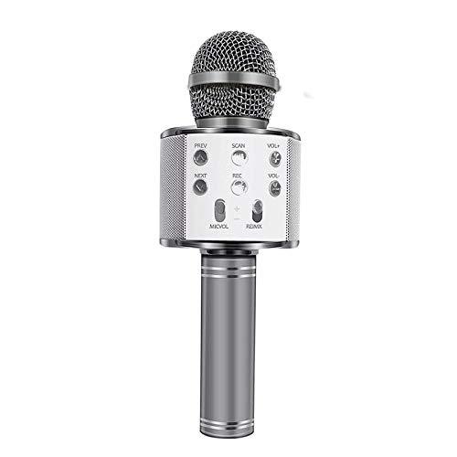 Yuan Ou Micrófono Micrófono inalámbrico Bluetooth Micrófono de Karaoke de Mano USB...