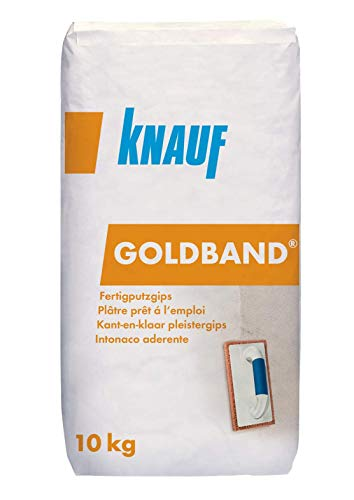Knauf Goldband Fertig-Putzgips als Untergrund für Tapeten, Fliesen oder Dekor-Putze, 10-kg – hochwertige Spachtel-Masse, geschmeidiger Grund-Putz für Wand-Flächen im Innen-Bereich