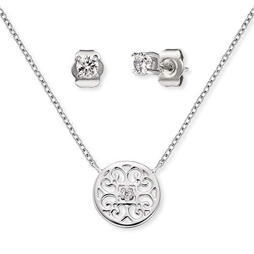 Engelsrufer Set ERMT-LILORNA-ZI Halskette und Ohrstecker Sterling Silber