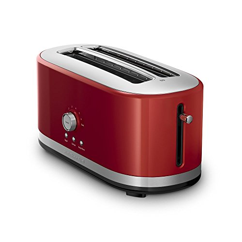 KitchenAid 4-Slice Long Slot Toaster with High Lift Lever | Empire Red (Renewed)