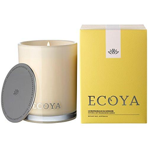 Ecoya Madison Jar Lemon and Ginger Candle (Pack of 6) - Ecoyaマディソンジャーレモンとジンジャーのキ...