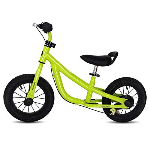 Bicicleta Sin Pedales Equilibrio Niño Pequeño Niño Equilibrio Bicicleta con Frenos, Neumáticos de 12 Pulgadas Bicicleta de Entrenamiento para Caminar para Niñas de 1, 2, 3, 4, 5 Años, Sin Pedal, Altur
