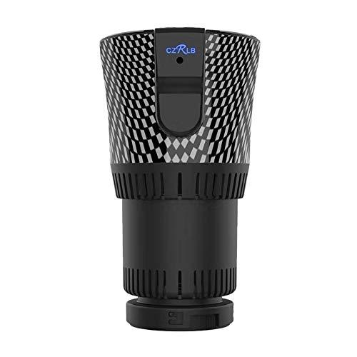 Adanse 2-in-1 Smarter Auto-Becherwärmer und -kühler, 12 V, 3 A, elektrischer Kaffeewärmer, Getränkekühler und Heizbecher für Autoreisen, Flaschenkühler