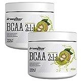 Ironflex BCAA 2:1:1 Pulver   200g je Dose (insg. 400g)   Geschmack: Kiwi   Workout Leucin Isoleucin...
