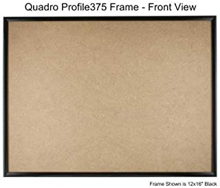 Quadro Frames 13x22 inch Picture Frame, Black, Style P375-3/8 inch Wide Molding