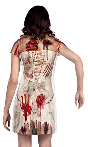 Boland- Vestito Fotorealistico Horror Zombie per Adulti, Bianco/Rosso, L, 84305