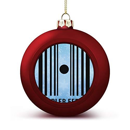 Enylvjoy Sheldon Big Bang Theory Doppler Effect Custom Christmas Ball Ornaments with Lanyard Beautifully Decorated Christmas Ball Gadgets for Holiday Party Decoration Xmas Tree Hanging Decorated