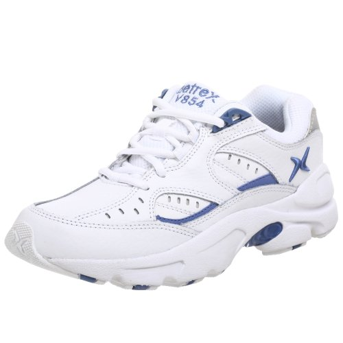 Apex Women's Rhino Runner-X Last Sneaker, White/Periwinkle, 4.5 Medium US