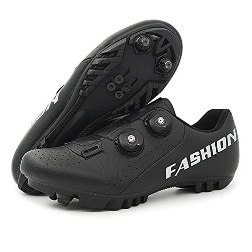 Zapatos de montar a caballo, zapatos de montar a caballo sin bloqueo / de bloqueo automático Zapatos casuales transpirables MTB Zapatos de bicicleta de bicicleta de montaña para hombres y mujeres 36-4