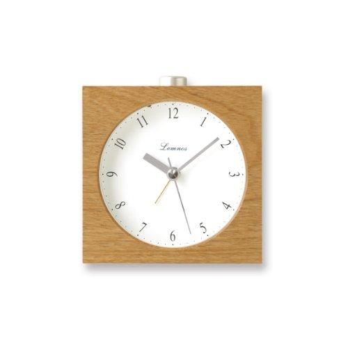Lemnos PA09-10 Nocturne Alarm Clock, japanischer Design-Wecker mit Licht und leisem Uhrwerk, Natur