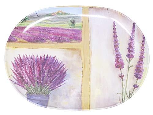 Lashuma - Vassoio da portata in melamina ovale, 30 x 21 cm