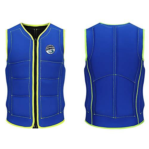 Chalecos De Vida Adultos Profesionales Neopreno Vestido De Vida Kayaking Boating Natación Seguridad Seguridad Vestir Chaleco para Hombres Y Mujeres,Azul,XXXL