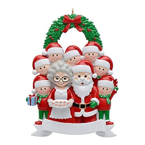 OSELLINE Árbol de Navidad colgante DIY nombre bendición colgante resina adornos año nuevo decoración 9 #