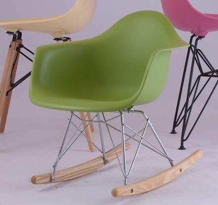 ZHU Modern Design Kids schommelstoel Baby Rocker Vrije tijd Woonkamer Meubels Plastic Mode Stoel (Groen)