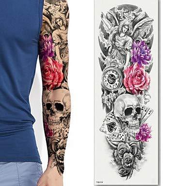 HYLH 3 Piezas Manga Grande Brazo Tatuaje boceto león Tigre ...