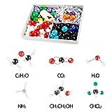 Poweka Modelo molécula química orgánica e inorgánica Set para profesores, estudiantes, científicos, enseñanza química, 240 unidades