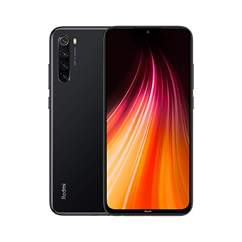 Xiaomi Redmi Note 8 Smartphone,4GB 64GB Mobilephone,Schermo Intero Da 6,3',Processore Octa Core Snapdragon 665,Quad Camera(48mp + 8mp + 2mp + 2mp) Versione Globale (Nero)