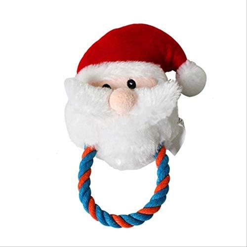 XYBB hondenspeelgoed, hondenspeelgoed, pet dogs, santa, shaped, honden, molar, speelgoed voor het kalmeren en lassen van de wilg, 19 cm x 10 cm