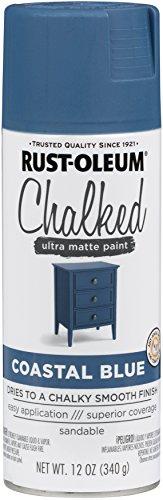 Rust-Oleum 302598 Series Chalked Ultra Matte Spray Paint, Coastal Blue