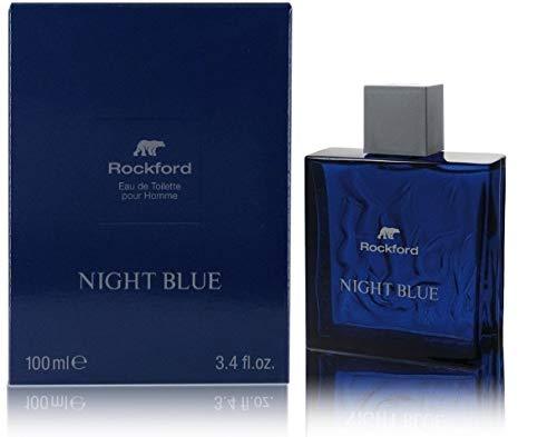 Rockford Night Blue Eau de Toilette, Profumo da Uomo, Fragranza Fresca e Sensuale, 100 ml