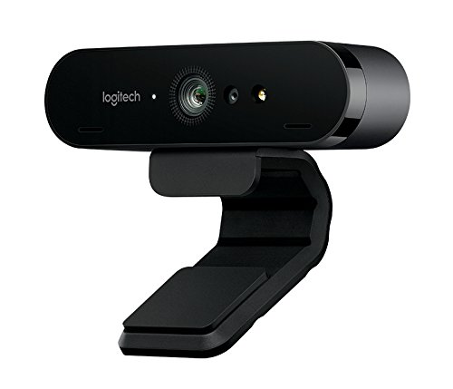Logitech Brio Webcam (90 fps, USB 3.0, 4096 x 2160, Autofokus, 5-fach digitaler Zoom, Microp)