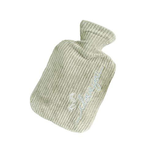Bottiglia di acqua calda, Carino bottiglia Knit acqua calda in gomma Thermos inverno caldo e Premendo rilassante vasca fredda di pressione 800ml XYXG (Color : Style#1)