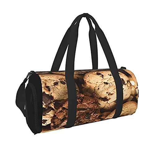 Roswqsa Travel Duffel Bag For Men Women Assorted Cookies Sports Gym Bag With Wet Pocket & Shoes Compartment Sports Bag Cheap Waterproof Duffel Bag