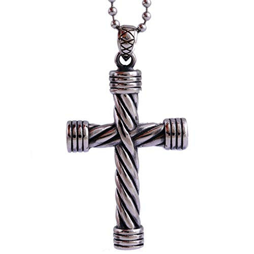 FTYYSWL Jesus Cross Titanium Steel Necklace Decoration