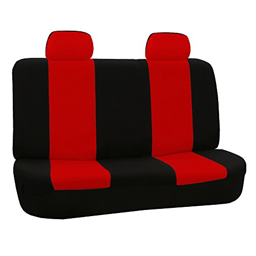 red and black bench seat cover - 6