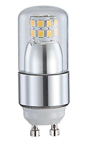 Traditionelle LED Leuchtmittel Kunststoff weiß Glas klar 4W Globo 10717