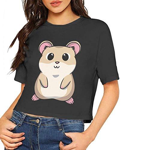 TYUHN Camiseta básica con Estampado de hámster para bebé, Camiseta Corta, Mangas Cortas, para Mujer